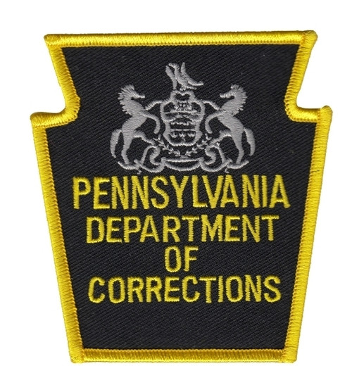"""PENNSYLVANIA DEPARTMENT OF CORRECTIONS Shoulder Patch, 3-1/8x3-1/4"""""""
