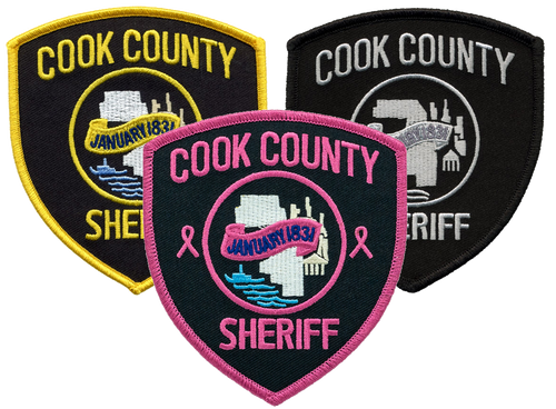 """COOK COUNTY SHERIFF Shoulder Patch, 3-9/16x4"""""""