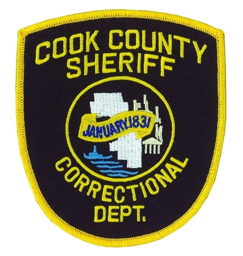"""COOK COUNTY SHERIFF Shoulder Patch, 3-1/2x4-1/4"""""""