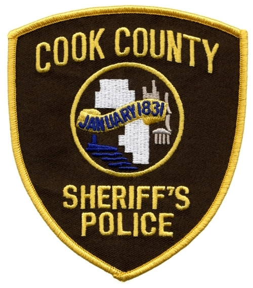 """COOK COUNTY SHERIFF'S POLICE Shoulder Patch, 3-7/8x4-1/2"""""""