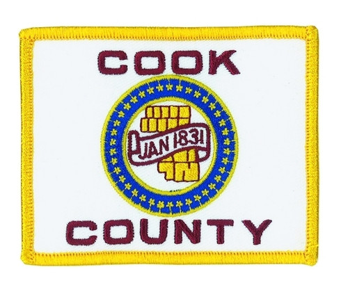 """Cook County Flag Patch, 3-1/2x2-3/4"""""""