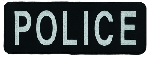 """POLICE Back Patch (Chicago PD), Grey/Black, 11x4"""""""