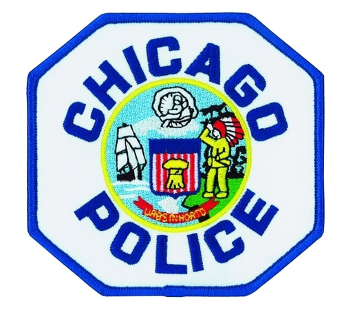 """CHICAGO POLICE Shoulder Patch, 4-1/4x4"""""""