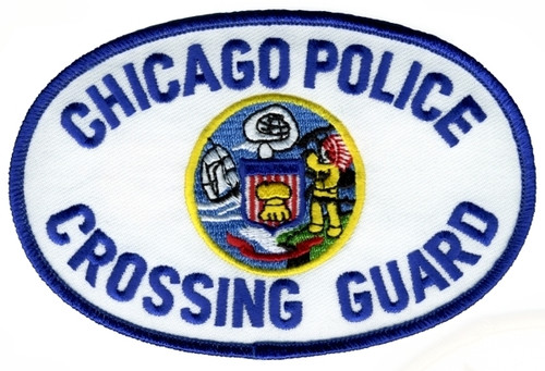 """CHICAGO POLICE CROSSING GUARD Shoulder Patch, 4-3/4x3-1/8"""""""