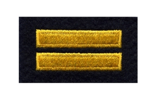 """Two Bars, 10 years (CPD), Gold/Midnight Felt, 2x1-1/8"""""""