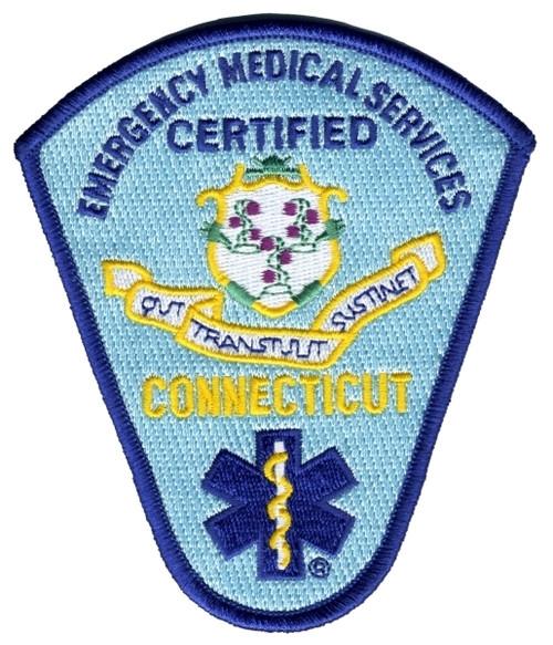 """CONNECTICUT LICENSED Shoulder Patch, 3-7/8x4-1/2"""""""