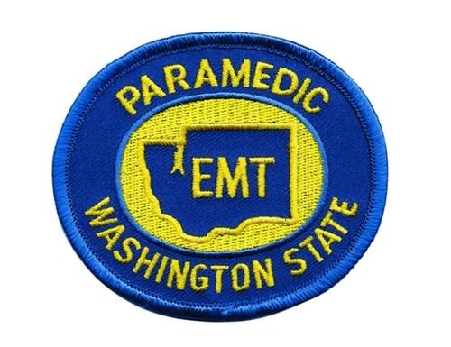 """WASHINGTON PARAMEDIC Shoulder Patch, 3-1/2x3"""""""