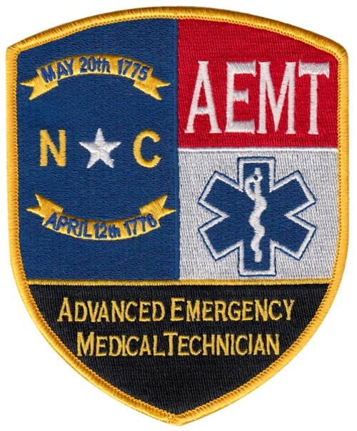 """North Carolina Advanced EMT Shoulder Patchr, 4x5"""""""