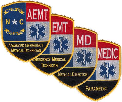 """North Carolina Advanced EMT Shoulder Patche, 4x5"""""""