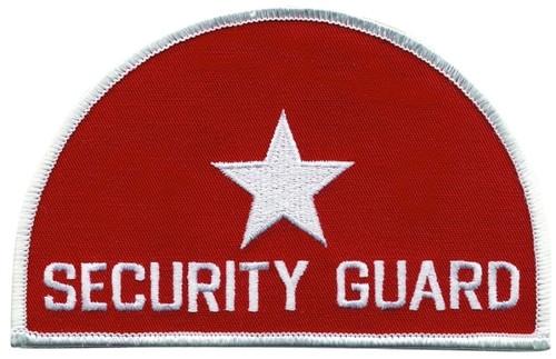 "SECURITY GUARD (MI half moon) Shoulder Patch, 4-5/8x3"""