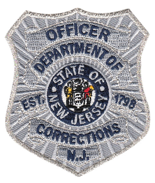 """NJ DEPARTMENT OF CORRECTIONS Badge Patch, 2-1/2 x 3"""""""