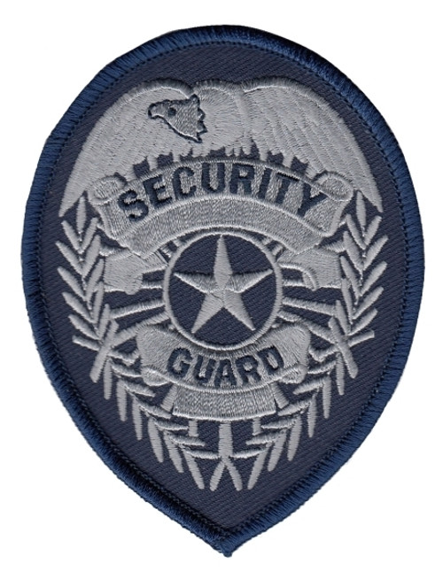 """SECURITY GUARD Badge Patch, 2-3/4x3-3/4"""""""