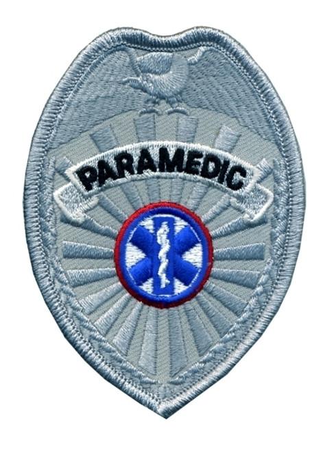 "PARAMEDIC Badge Patch, 2-1/2 x 3-1/2"""