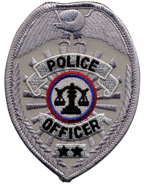 """POLICE OFFICER Badge Patch, 2-1/2 x 3-1/2"""""""