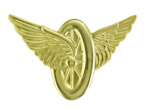 """Wheel & Wings, Lapel Pin, 1-5/16x1"""""""