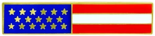 "U.S. Flag Lapel Pin, Enameled & Plated, 2 Clutch Backs, 1-3/4x3/8"""