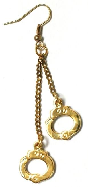 """Handcuffs Earrings, 2x5/16"""""""