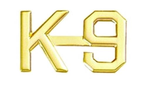"K-9 Die Struck Letters, 2 Posts & Clutch Backs, Pairs, 3/8"" High"