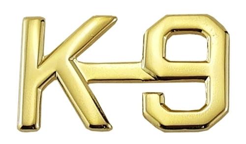 "K-9 Die Struck Letters, 2 Posts & Clutch Backs, Pairs, 1/2"" High"