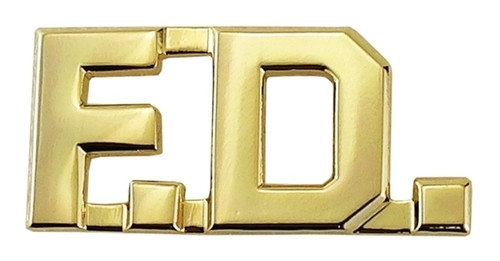 """F.D. Die Struck Letters, 2 Posts & Clutch Backs, Pairs, 1/2"""" High"""