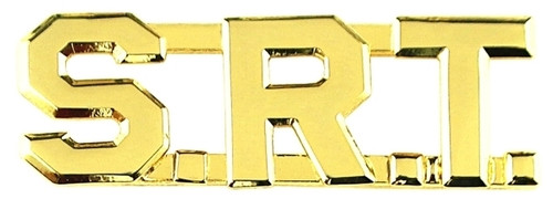 """S.R.T. Die Struck Letters, 2 Posts & Clutch Backs, Pairs, 1/2"""" High"""