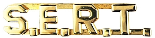 """S.E.R.T. Die Struck Letters, 2 Posts & Clutch Backs, Pairs, 3/8"""" High"""