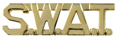 """S.W.A.T. Die Struck Letters, 2 Posts & Clutch Backs, Pairs, 3/8"""" High"""
