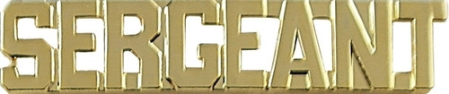 """SERGEANT Die Struck Letters, 2 Posts & Clutch Backs, Pairs, 3/8"""" High"""