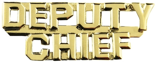 """DEPUTY CHIEF (2 Rows) Die Struck Letters, 2 Posts & Clutch Backs, Pairs, 1/4"""" High"""
