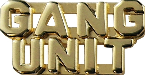 """GANG UNIT (2 Rows) Die Struck Letters, 2 Posts & Clutch Backs, Pairs, 1/4"""" High"""