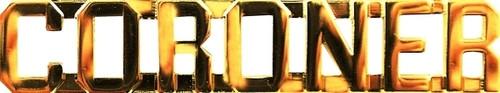 "CORONER Die Struck Letters, 2 Posts & Clutch Backs, Pairs, 3/8"" High"