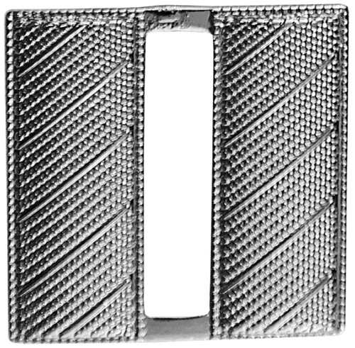 """Captain, Corrugated, Pin & Safety Catch, Pairs, Nickel Plating, Reg-1"""" High"""