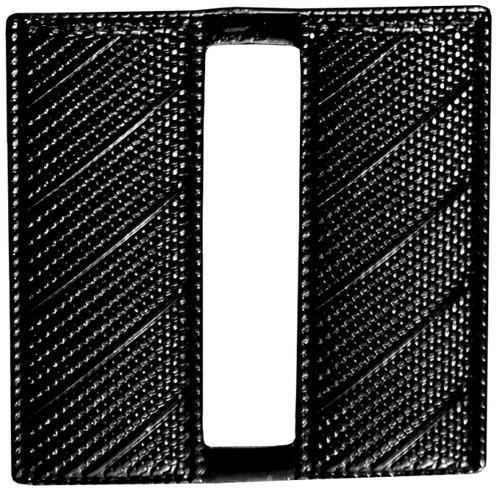 "Captain, Corrugated, 2 Posts & Clutch Backs, Pairs, Black, Regular-1"" High"