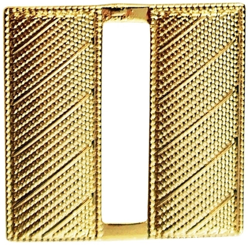 """Captain, Corrugated, 2 Posts & Clutch Backs, Pairs, Gold Plating, Regular-1"""" High"""