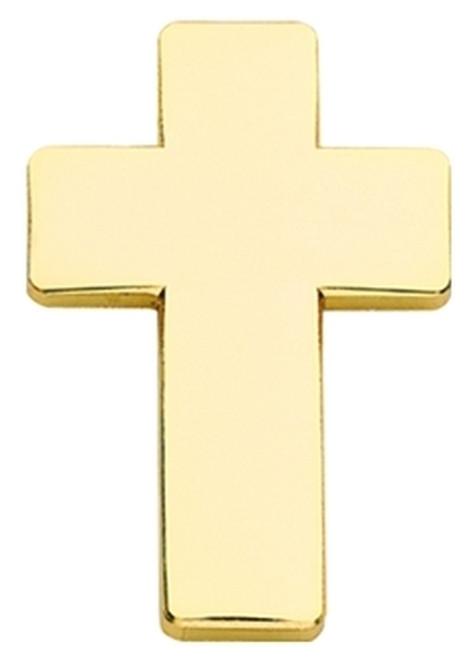 "Chaplain Cross, 2 Posts & Clutch Backs, Pairs, 1"" High"