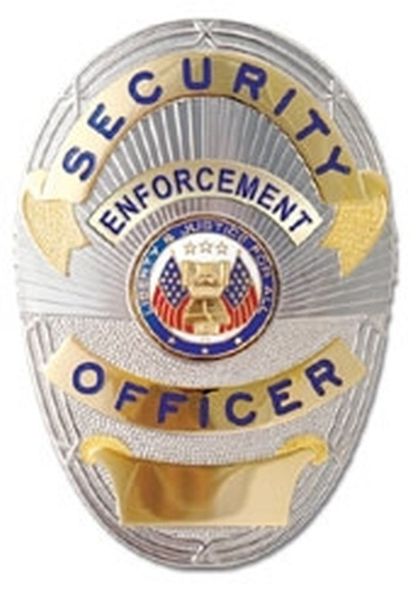 """SECURITY ENFORCEMENT OFFICER, LAPD Style, 5-Pc Pin/Catch, 2-1/4x3-3/4"""""""