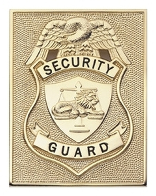 """SECURITY GUARD (NY) Badge, Enameled & Plated Durable 5-Pc Pin/Catch, 2-5/8x3-5/8"""""""