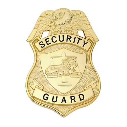 """SECURITY GUARD (NY) Badge, Enameled & Plated Durable 5-Pc Pin/Catch, 2-1/8x3-1/8"""""""