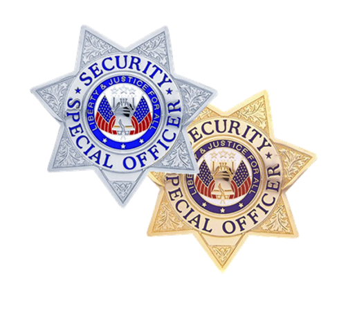 """SECURITY SPECIAL OFFICER Lightweight Badge, Pin & Safety Catch, 3x3"""""""
