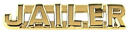 "JAILER Die Struck Letters, 2 Posts & Clutch Backs, Pairs, 1/4"" High"