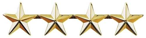 "4 Stars, 2 Posts & Clutch Backs, Pairs, 1"" High"