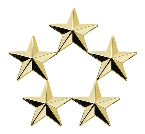 """5 Star Cluster, 2 Posts & Clutch Backs, PairsGold, __""""H (7/16 Stars)"""