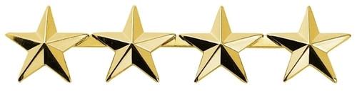 "4 Stars, 2 Posts & Clutch Backs, Pairs, 1/2"" High"