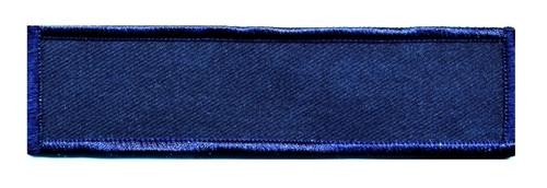 "Name Blanks, Merrowed Bordered (Chicago PD), Dk Navy/Dk Navy, 4-3/4x1-1/4"""