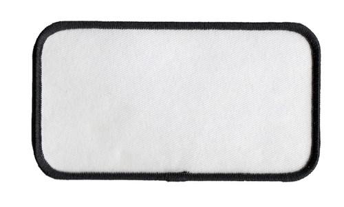 """Name Blanks, Merrowed Bordered, Black/White, 4.5x2.5"""""""