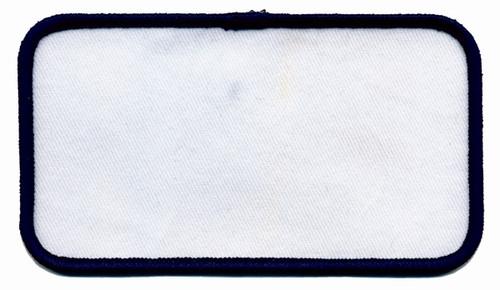 """Name Blanks, Merrowed Bordered, Navy/White, 4.5x2.5"""""""