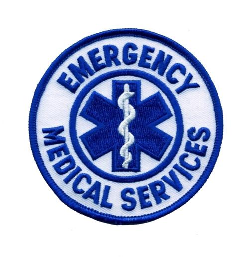 "EMERGENCY MEDICAL SERVICES Shoulder Patch, 3-1/2"" Circle"