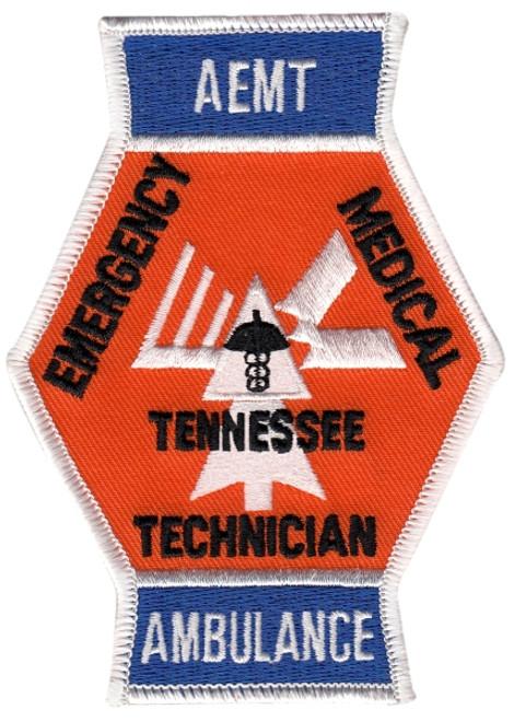 "TN, AEMT TENNESSEE AMBULANCE Shoulder Patch, 3-1/4x4-1/2"""