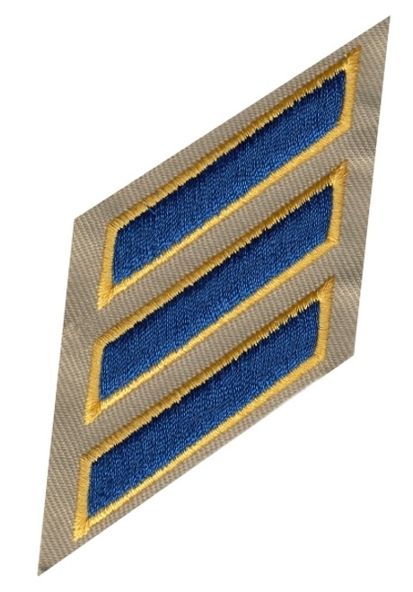 "Hashmarks, On Twill (CHP), Royal-Gold/Tan Twill, 2""Stripe"