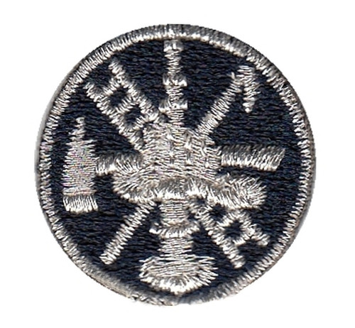 "Fire Scramble Embroidered Collar InsigniaMet., 1"" Circle"